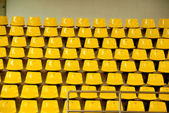 Seats in basketball stadium . Royalty Free Stock Image
