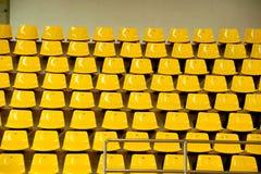 Seats in basketball stadium . Royalty Free Stock Image