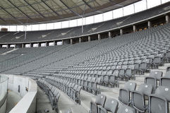 Seats at the Berlin Olympiastadion Royalty Free Stock Images