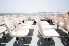 Seats on boat Royalty Free Stock Images