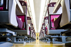 Seats in the bullet Train. 1 Royalty Free Stock Photo