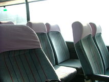 Seats in a bus. Empty seats in a bus Royalty Free Stock Images