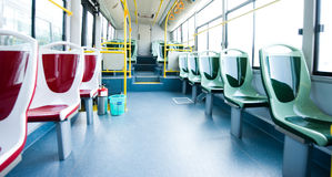 seats in a bus Stock Photos