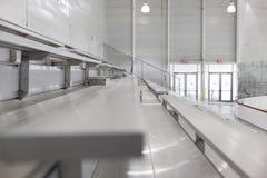 Seats byt the ice hockey rink Royalty Free Stock Photos