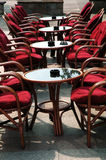 Seats in caffe. Seats in street caffe with tables Stock Image