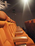 Seats in cinema. Row of seats in a cinema Stock Image