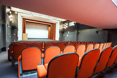 Seats in the cinema Royalty Free Stock Image