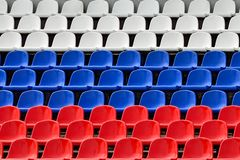 Seats in the colors of the Russian flag Royalty Free Stock Photography