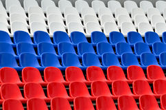 Seats in the colors of the Russian flag Royalty Free Stock Photo
