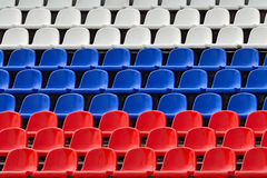 Seats in the colors of the Russian flag Royalty Free Stock Images