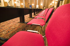 Seats in conference hall stock photos