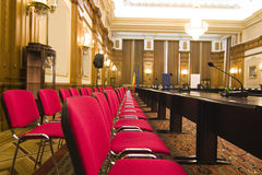 Seats in conference room royalty free stock photo
