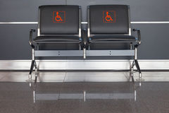 Seats for diabled people Stock Image