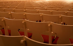 Seats. Empty seats in the concert hall Stock Photos