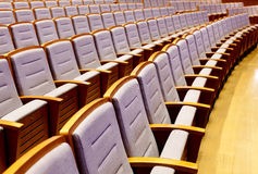 Seats. Empty seats in the concert hall Royalty Free Stock Photo