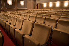 Seats in an empty theatre Royalty Free Stock Image