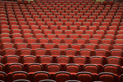 Seats in empty theatre. Red hair seats in empty theatre Stock Images