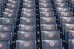 Seats of Fenerbahce Sukru Saracoglu Stadium in Istanbul, Turkey Stock Images