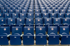 Seats of Fenerbahce Sukru Saracoglu Stadium in Istanbul, Turkey Royalty Free Stock Photography