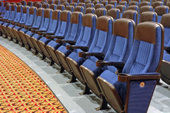 Seats in Front Row Section Royalty Free Stock Photos