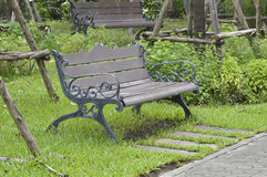 Seats in the garden Royalty Free Stock Images