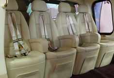 Seats in a helicopter Royalty Free Stock Images