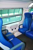 Seats inside a modern train stock photography