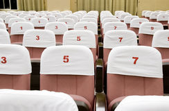 Seats in lecture classroom Royalty Free Stock Images