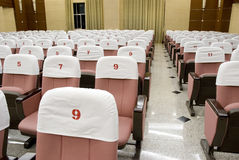Seats in lecture classroom Royalty Free Stock Photos
