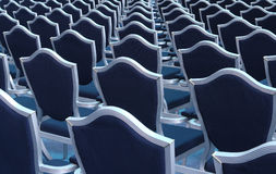 Seats in lecture hall. Rows of empty seats in lecture hall Stock Images
