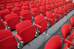 Seats of modern business center Royalty Free Stock Photos