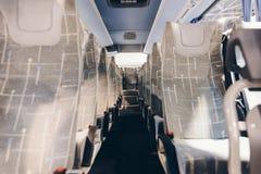 Seats in modern coach bus. royalty free stock photos
