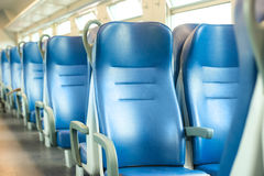 Seats in modern train Stock Photography
