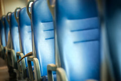 Seats in modern train Stock Images