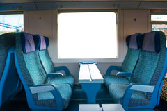 Seats in modern train Stock Image