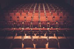 Seats in a music hall Stock Photos