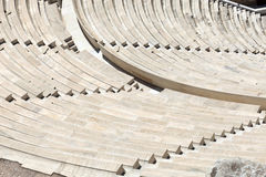 Seats of Odeon of Herodes Atticus Royalty Free Stock Images