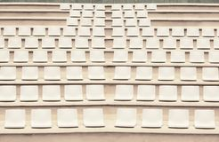 Seats in outdoor auditorium Royalty Free Stock Photo