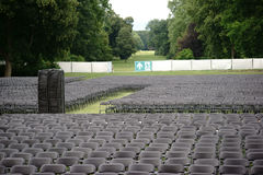 Seats outdoor concert Stock Photography