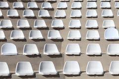 Seats of outdoor stadium Stock Photo
