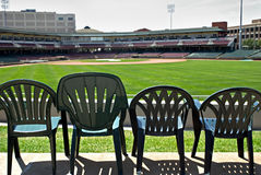 Seats in Outfield Royalty Free Stock Images