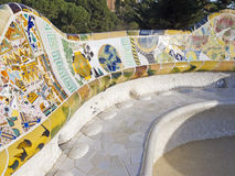 Seats of Park Guell Royalty Free Stock Photo