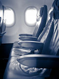 Seats in a passenger aircraft Stock Photo