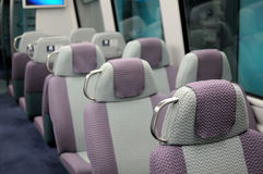 Seats on a passenger train Royalty Free Stock Photography