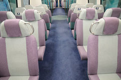Seats on a passenger train Stock Photo