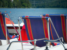 Seats of pedalos Royalty Free Stock Photos