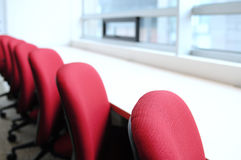 Seats in a row. Royalty Free Stock Photo