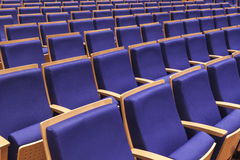 Seats row in Auditorium Stock Photos