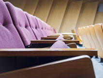 Seats row in lecture room Royalty Free Stock Photography