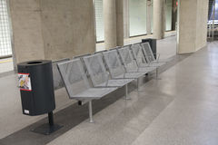 Seats at seceond sublevel at station Heumarkt Royalty Free Stock Image